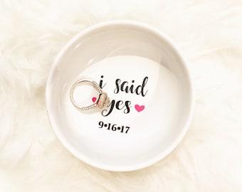 I Said Yes round ring dish