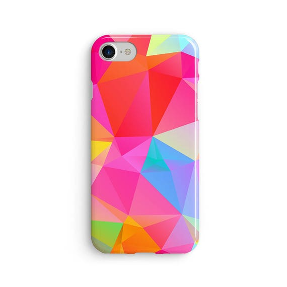 Geometric polygon pinks - iPhone 7 case, samsung s7 case, iphone 7 plus case, iphone se case 1P016