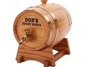 Whiskey Barrel, Personalized Beer Keg, Wine Barrel, Husband Gift, Groomsmen Gifts, 1.5 L Oak Barrel