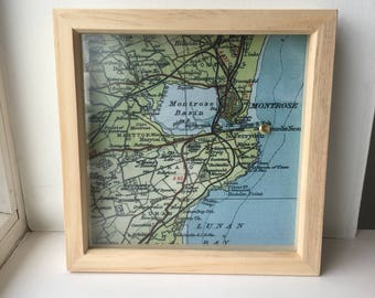 Personalised Map Frame With Special Location Pinned