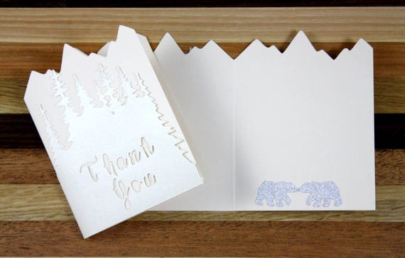 Winter Wonderland Wedding Thank You Card Set
