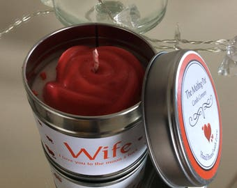 Handpoured wife organic soy wax tin candle
