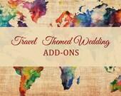 Traveler Themed Wedding Invitation ADD-ONS