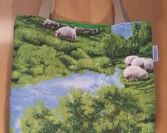 Sheep Tote Bag, Knitting tote bag, Travel sheep tote bag, Crochet Sheep Tote