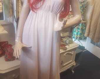 Dusky Pink Chiffon Evening Dress