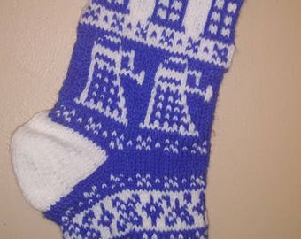 Doctor Who Knit Stocking