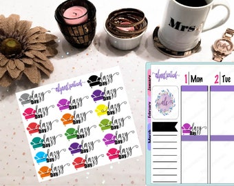 Lazy Day- Typography Planner/Calendar Stickers