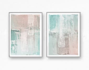 Scandinavian abstract, Printable Art, Art Poster, modern abstract, Industrial Decor, white, pink, light pink, rose, mint, light green,pastel