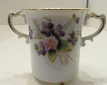 HALSEY FIFTH - Double Handled Demi Cup - Violets