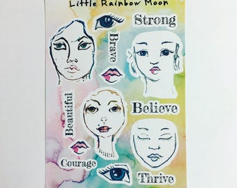 Beautiful Me - planner/journal stickers