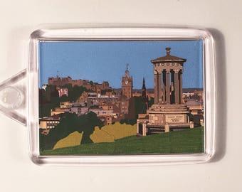 Edinburgh Skyline from Calton Hill Keyring