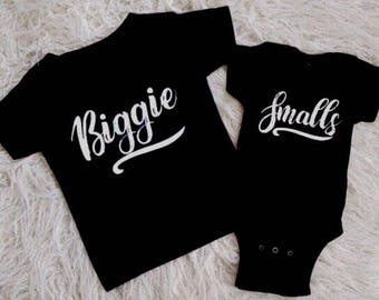 biggie smalls shirts matching brothers cousin shirts matching cousins funny matching kids shirts trendy baby clothes modern baby cousins