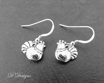 Chicken Earrings, Hen Earrings, Chicken Gifts, Chicken Jewelry, Charm Earrings, Novelty Earrings, Hen Gifts, Gifts for Her,