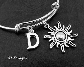 Sun Bangle, Sun Bracelet, Sun Jewellery, Personalised Sun Bangle, Pagan Jewellery, Sun Gifts