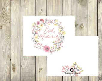 Happy Eid Card - Eid Mubark - Instant digital download