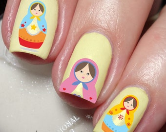 Russian Doll Nail Art Sticker Water Transfer Decal 41