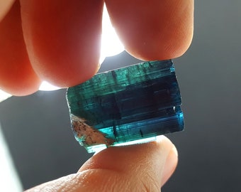 65 Carat Beautiful Blue Indicolite Color Tourmaline Crystal@Afghanistan3