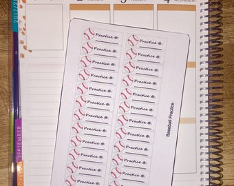 Baseball Planner Stickers for use with Erin Condren Life Planner and other planners