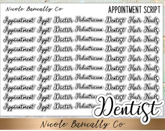 Appointments Script Planner Stickers