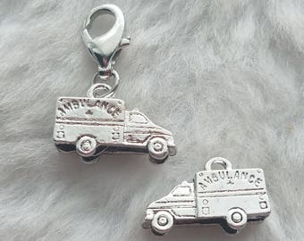 Ambulance Charm - Ready to Wear - Clip On
