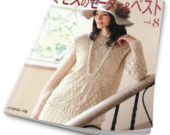 Japanese magazine on knitting. Let's knit series vol.8. Japanese crochet ebook - PDF - instant download
