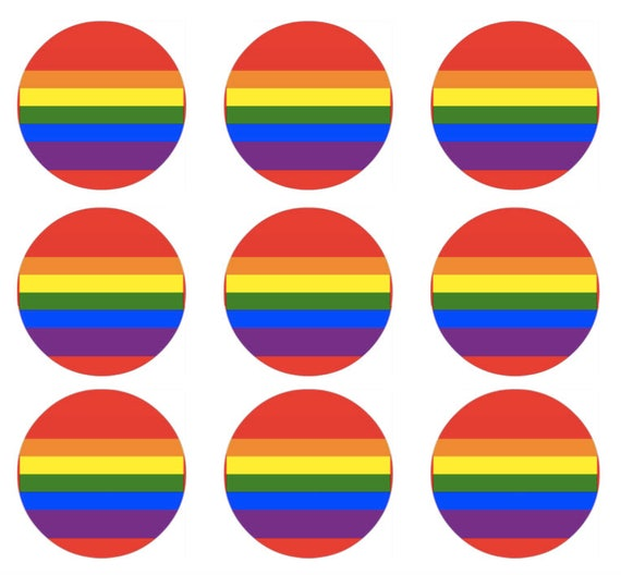 items similar to rainbow pride flag button template for 1 or buttons. Black Bedroom Furniture Sets. Home Design Ideas