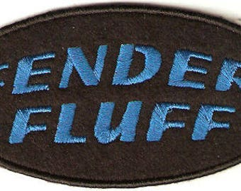 Fender Fluff ~ Biker Patch ~ Motorcycle Patch ~ Embroidered Iron on Patch