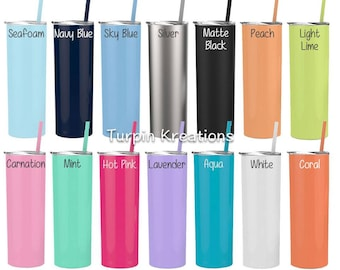 Stainless Steel Tumbler, Personalized Tumbler, Monogram Tumbler, Stainless Steel Water Bottle, Personalized Water Bottle, Skinny Steel