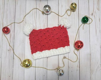 Crocheted Santa Sack Hat