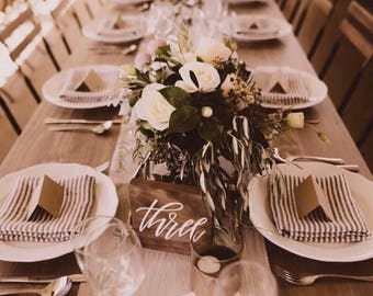 Wedding table number signs | Rustic table numbers | Boho table numbers | Wedding decor Australia | Engagement sign | Wedding sign