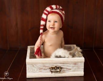 Santa hat | Baby santa hat | Sitter santa hat | Newborn  christmas outfit | Newborn christmas props
