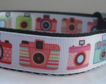 Funky Camera collar matching lead available selfie