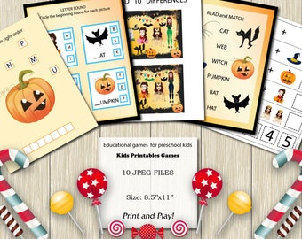 Educational printables games for preschool kids Halloween kids games Preschool Science Curriculum Kindergarten Worksheets Activities  Clever
