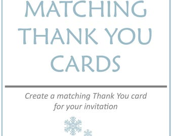 Custom Thank you cards to match your invitation, Add On Item