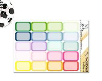 Half Box Sticker! Perfect for the Erin Condren Life Planner!