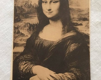Post card, La Joconde, Leonardo da Vinci, 1907 Rare
