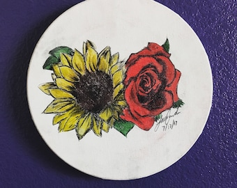 Sunflower & Rose