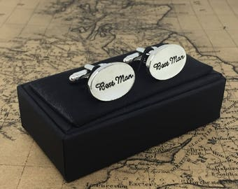 Beautiful WEDDING Cufflinks BEST MAN Thank You Gents Come Gift Boxed Cuff Links Bestman Dad