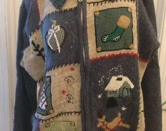 Basic Editions Holiday ugly christmas sweater