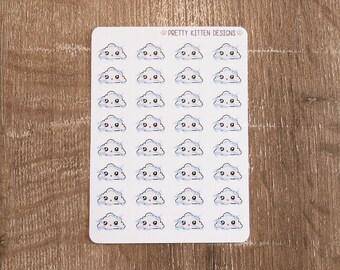 Windy Weather Tracker Planner Stickers | 32 Stickers | Matte Removable | Erin Condren Life Planner, Kikki K, Plum Paper Planner