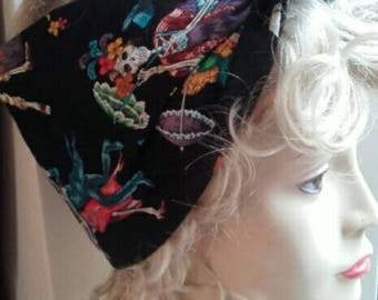 Hair tie, bandanna, turban, headband, head scarf, day of the dead, limited quantity!
