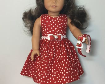 "18"" doll dress made to fit like an American Girl Doll Dress or American Girl Doll Clothes - 18 inch Doll Dress"