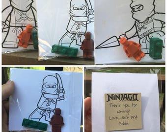 Ninjago FAVOR Coloring Page // Crayon Coloring Page // Ninjago Favors // Ninjago Birthday // Ninja Crayons // Personalized Party Favors