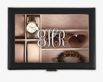 Monogram Customized Accessories Case - Jewelry And Watch Case - Womens Accessory Box - Gifts for Her - Holiday Gifts - Monogrammed gifts