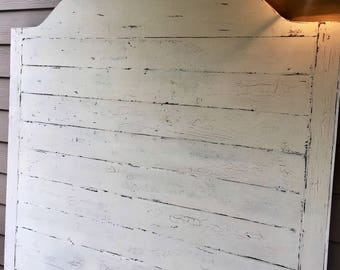 Queen Headboard; Distressed or Solid White