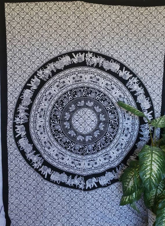 Table Runner|Elephant Tapestry|Wall Tapestry|Wall Decor|Boho Tapestry|Print Tapestry|Hippie wall tapestry|Beach tapestry|Mandala Tapestry