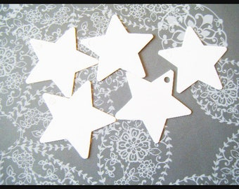 ♥ gift tags for packaging - star ♥ white cardboard paper