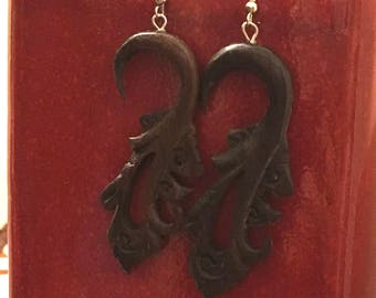 Ubud Carved Earrings