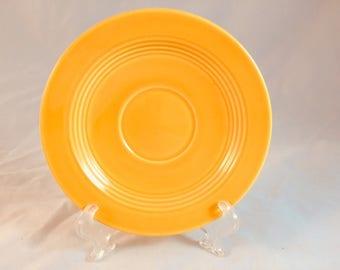 Yellow Homer Laughlin Harlequin 6 inch Saucer