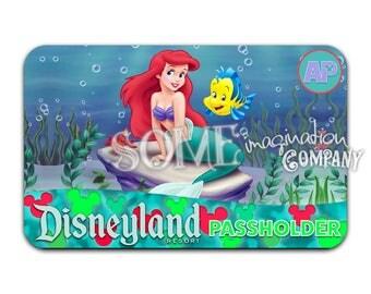 The Little Mermaid Disneyland Passholder Sticker